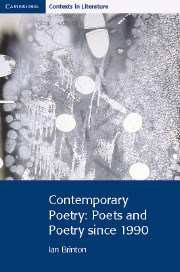 Contemporary Poetry: Poets and Poetry since 1990 - фото 11406
