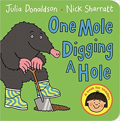 One Mole Digging a Hole  (board book) - фото 4550