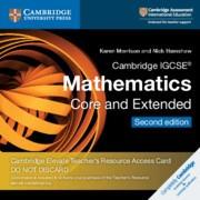 Cambridge IGCSE™ Mathematics Cambridge Elevate Teacher's Resource Access Card