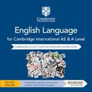 Cambridge International AS & A Level English Language Cambridge Elevate Teacher's Resource Card Second Edition