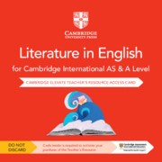 Cambridge International AS & A Level Literature in English Cambridge Elevate Teacher's Resource Card Second Edition