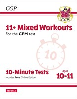 11+ CEM 10-Minute Tests: Mixed Workouts - Ages 10-11 Book 2 (with Online Edition)