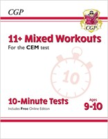 11+ CEM 10-Minute Tests: Mixed Workouts - Ages 9-10 (with Online Edition)