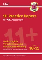11+ GL Practice Papers Mixed Pack - Ages 10-11 (with Parents' Guide & Online Edition)