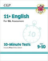 11+ GL 10-Minute Tests: English - Ages 9-10 (with Online Edition)