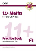 11+ CEM Maths Practice Book & Assessment Tests - Ages 7-8 (with Online Edition)