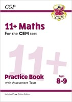 11+ CEM Maths Practice Book & Assessment Tests - Ages 8-9 (with Online Edition)