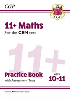 11+ CEM Maths Practice Book & Assessment Tests - Ages 10-11 (with Online Edition)