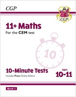 11+ CEM 10-Minute Tests: Maths - Ages 10-11 Book 1 (with Online Edition)