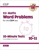 11+ CEM 10-Minute Tests: Maths Word Problems - Ages 10-11 Book 1 (with Online Edition)