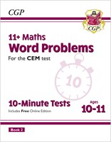 11+ CEM 10-Minute Tests: Maths Word Problems - Ages 10-11 Book 2 (with Online Edition)