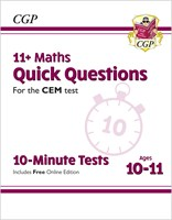 11+ CEM 10-Minute Tests: Maths Quick Questions - Ages 10-11 (with Online Edition)