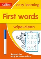 First Words Age 3-5 Wipe Clean Activity Book