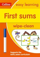 First Sums Age 3-5 Wipe Clean Activity Book