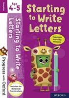 PWO: WRITING LETTERS AGE 4-5 BK/STICKER
