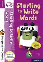 PWO: WRITING WORDS AGE 4-5 BK/STICKER