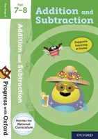 PWO: ADDITION AND SUBTRACTION AGE 7-8 BOOK/STICKERS/WEBSITE LINK