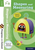PWO: SHAPES AND MEASURING AGE 7-8 BOOK/STICKERS/WEBSITE LINK