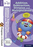 PWO: ADDITION, SUBTRACTION, DIVISION AND MULTIPLICATION 9-10 BOOK/STICKERS/WEBSITE LINK