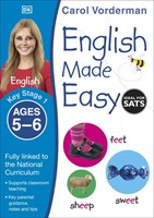 Ages 5-6 Key Stage 1 English Made Easy Workbooks